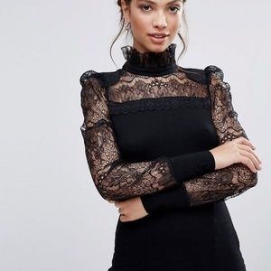 Women's Black Lace Top